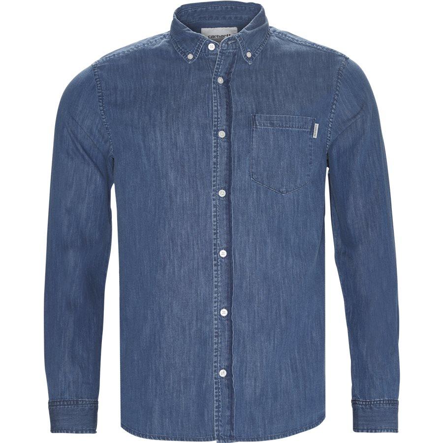 L/S CIVIL SHIRT I012382. - L/S Civil Shirt - Skjorter - Regular - BLUE STONE WASHED - 1